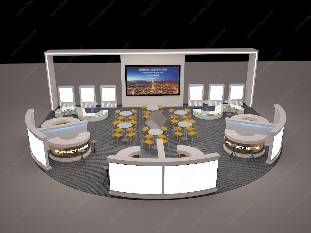 房地产商场巡展3D模型