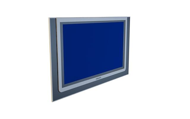 飞利浦平板电视机3d模型[id1044]