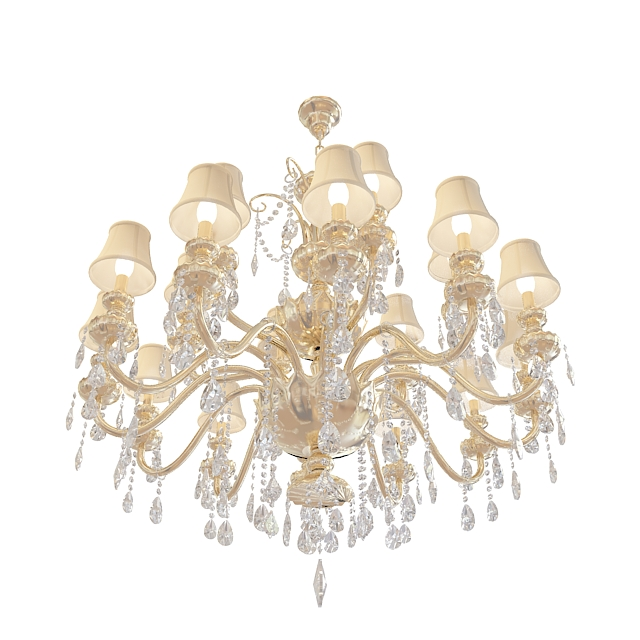 3d欧式奢华水晶吊灯模型