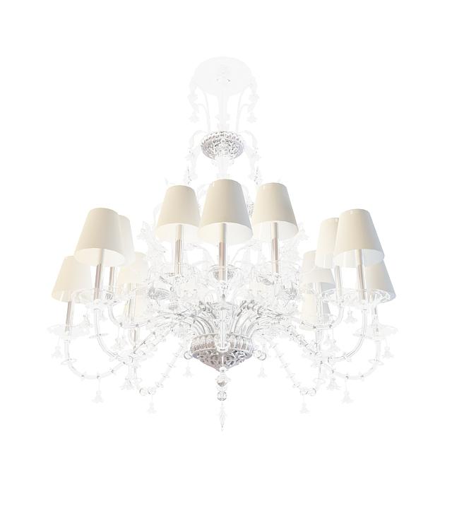 3d欧式豪华水晶吊灯模型