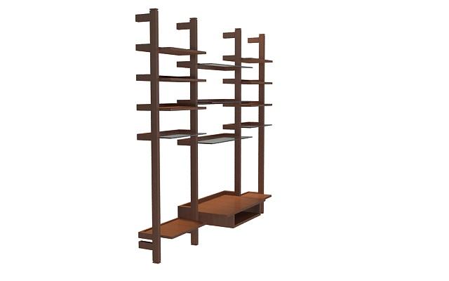 3d木质架子模型_木质架子3d模型下载