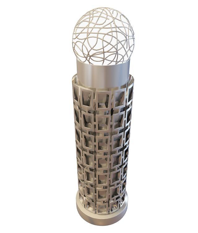 3d广场路灯模型_广场路灯3d模型下载