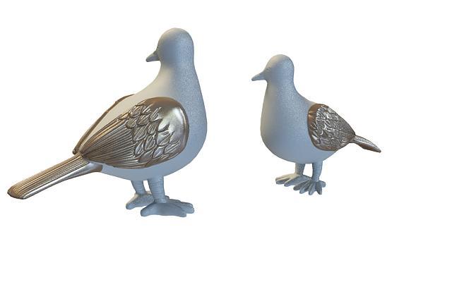 3d鸽子雕塑模型_鸽子雕塑3d模型下载