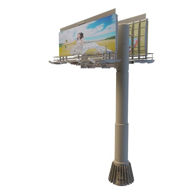 3d广告牌模型_广告牌3d模型下载图片