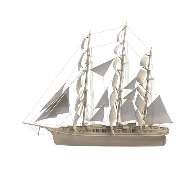 3d帆船模型_帆船3d模型下载