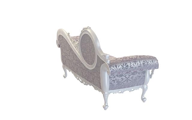 3d欧式贵妃椅模型_欧式贵妃椅3d模型下载