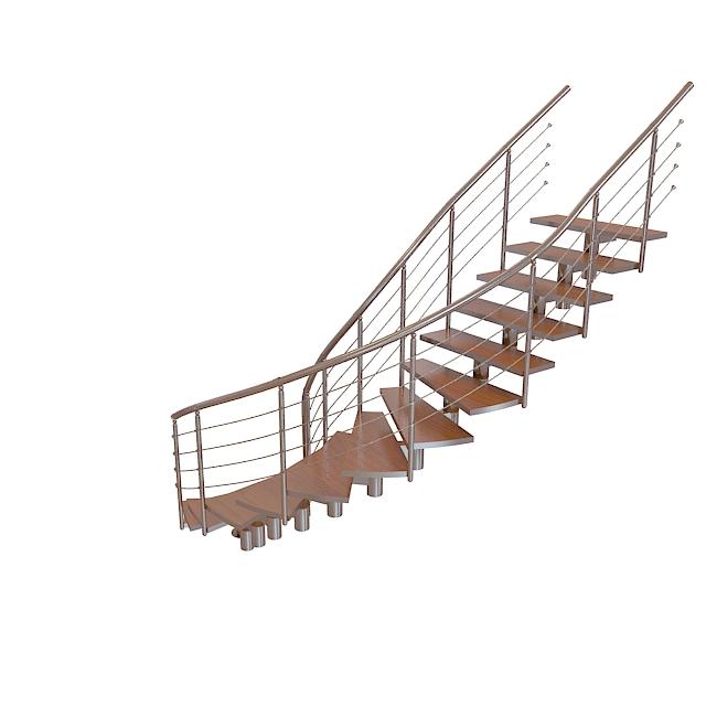 3d欧式旋转楼梯模型_欧式旋转楼梯3d模型下载