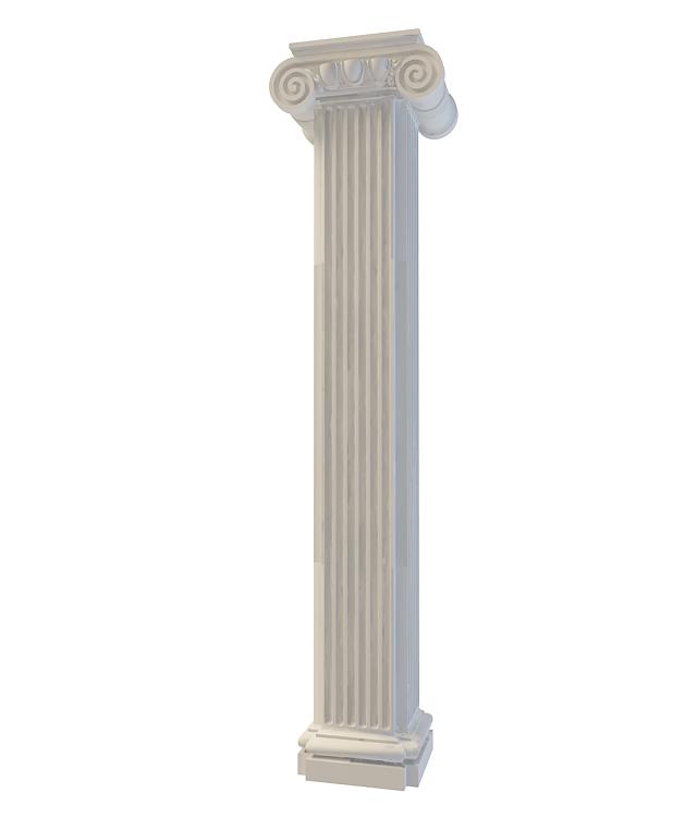 3d方形欧式柱模型_方形欧式柱3d模型下载