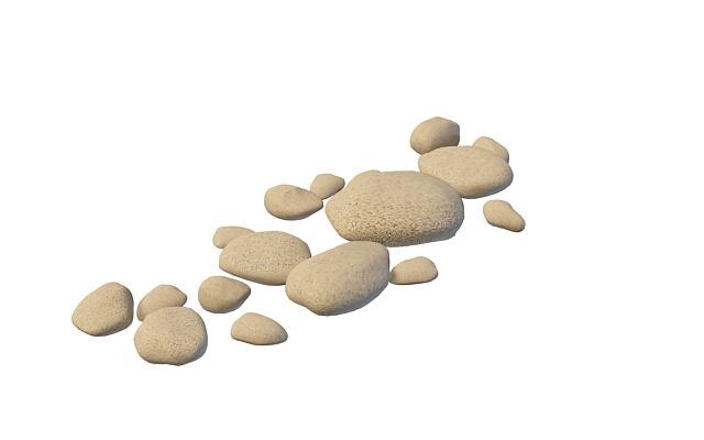 石头卡通矢量图