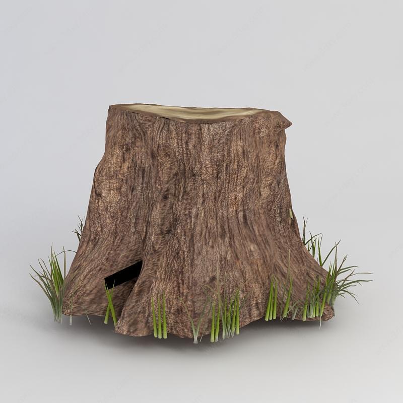 树桩超清矢量图