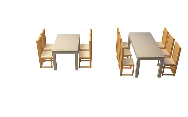 桌椅剪影矢量图