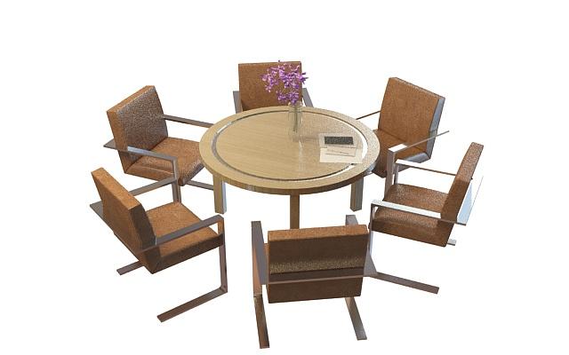 3d模型载家具组合桌椅
