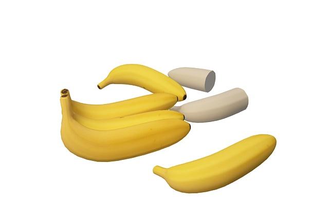 3d香蕉模型_香蕉3d模型下载