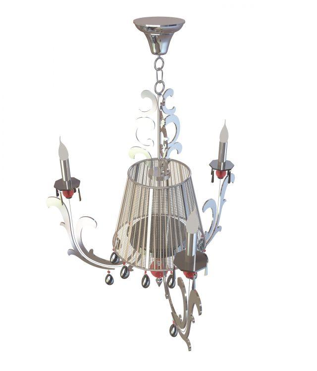 3d欧式吊灯模型_欧式吊灯3d模型下载