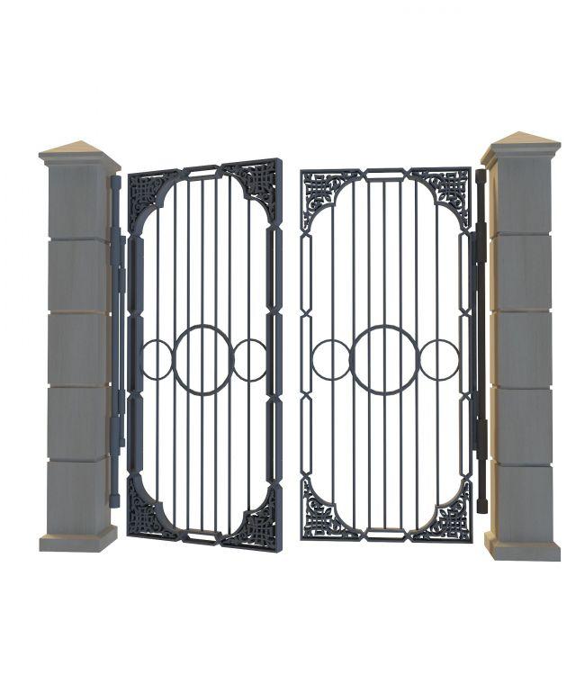 关键词:铁艺门3d模型大门3d模型铁门3d图片