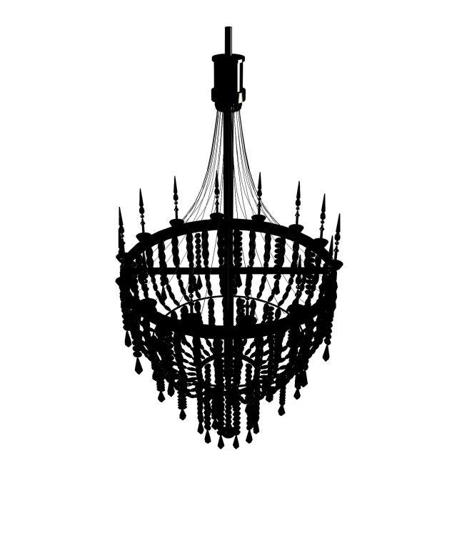 3d欧式水晶吊灯模型_欧式水晶吊灯3d模型下载