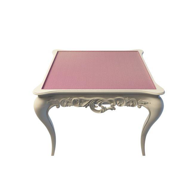 3d欧式雕花休闲桌模型