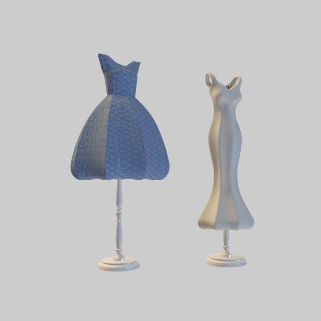 裙子台灯模型