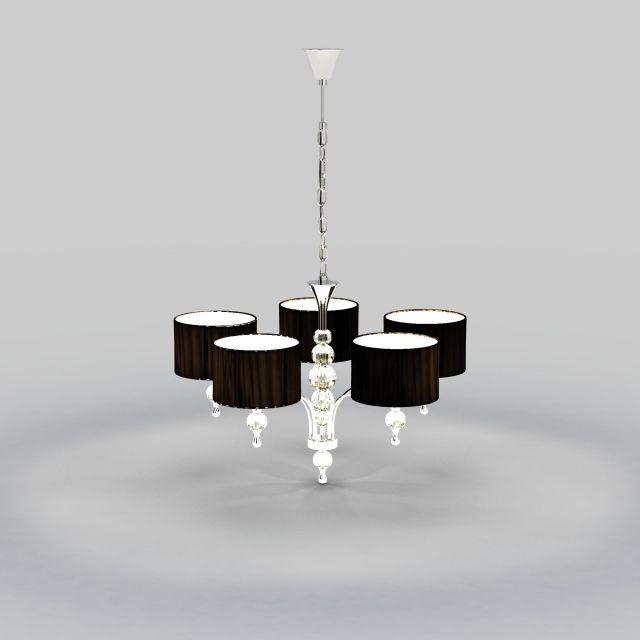 3d时尚水晶吊灯模型_时尚水晶吊灯3d模型下载