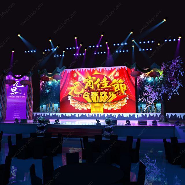 元宵节舞台场景