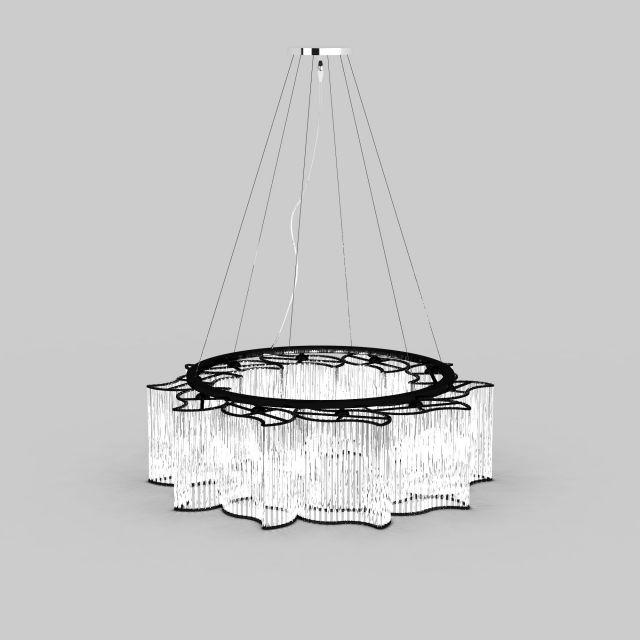 3d水晶吊灯模型_水晶吊灯3d模型下载