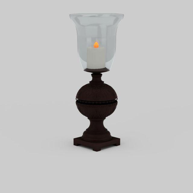 中式烛台灯模型