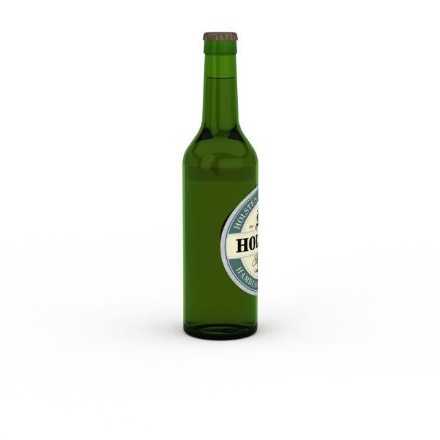 3d啤酒瓶模型_啤酒瓶3d模型下载