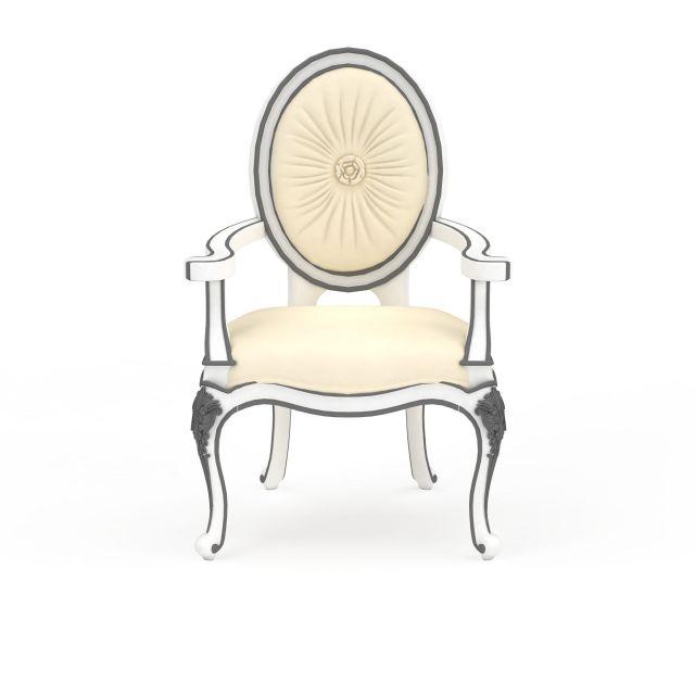 3d欧式雕花椅子模型_欧式雕花椅子3d模型下载