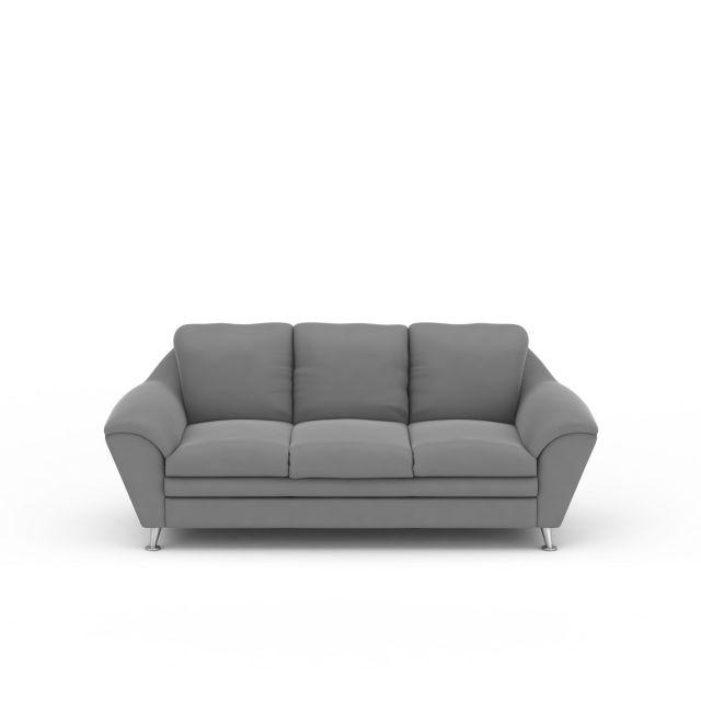 灰色布艺沙发模型