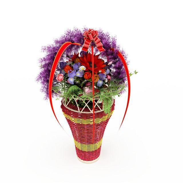 编织花篮礼品模型