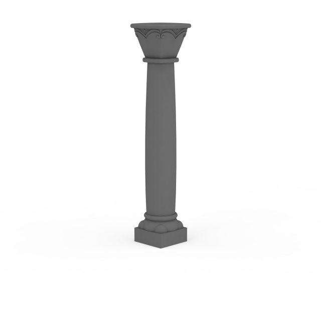 欧式柱子构件模型图片