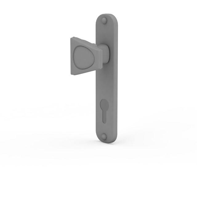 3d灰色塑料门把手模型