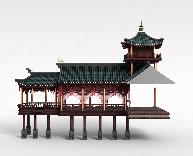 3d游戏宫殿建筑模型