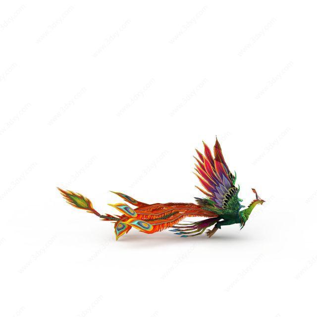 3d飞行类动物凤凰模型图片