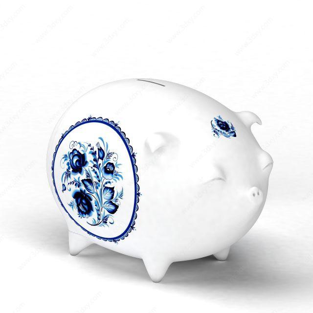 陶瓷小猪存钱罐