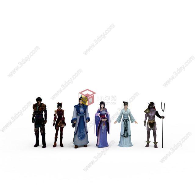 仙剑四全套主角人物模型