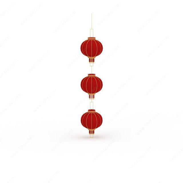 中式节日装饰品大红灯笼