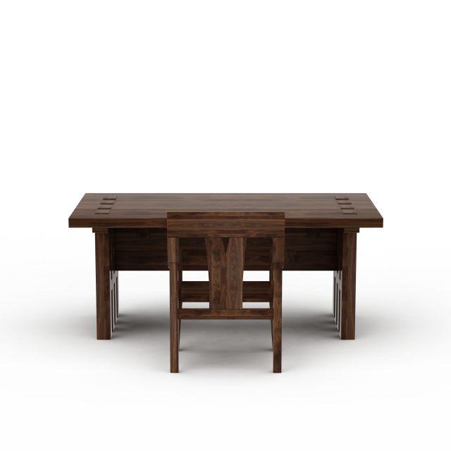 中式实木书桌书椅