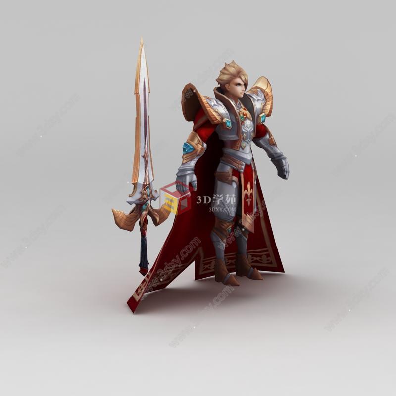 王者荣耀游戏人物男人战士模型