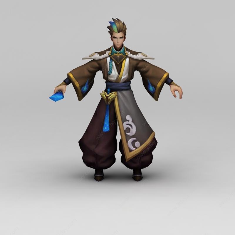 qq游戏免费下载2011_3d王者荣耀男角色模型,王者荣耀男角色3d模型下载_3D学苑
