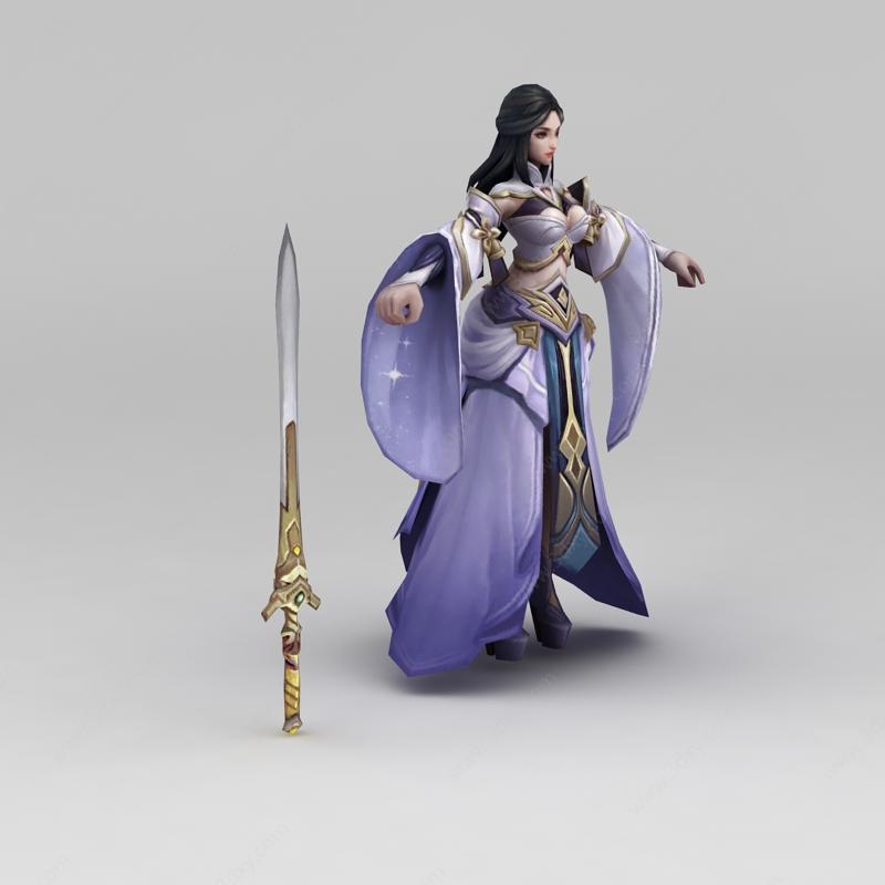 王者荣耀角色美女模型