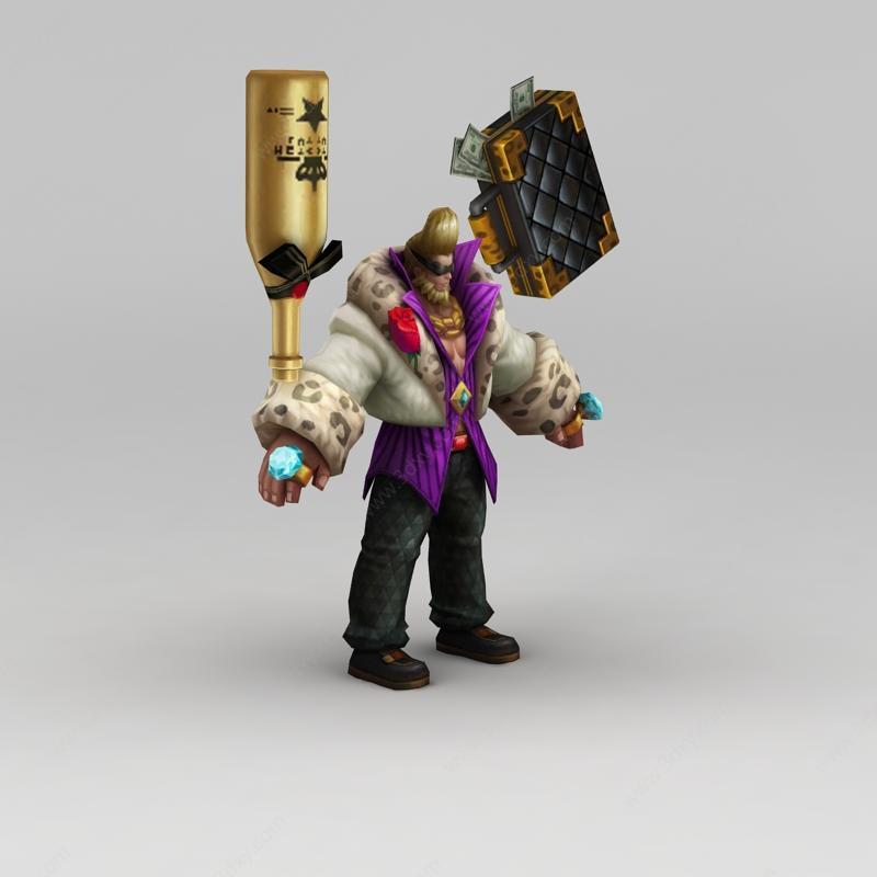 王者荣耀角色人物模型