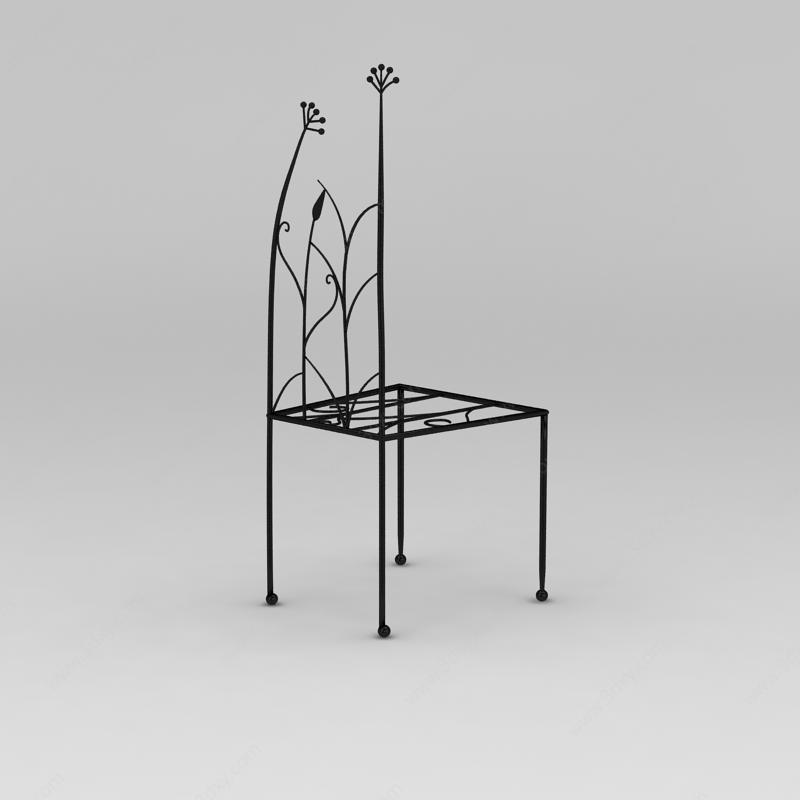 创意铁艺椅子模型图片
