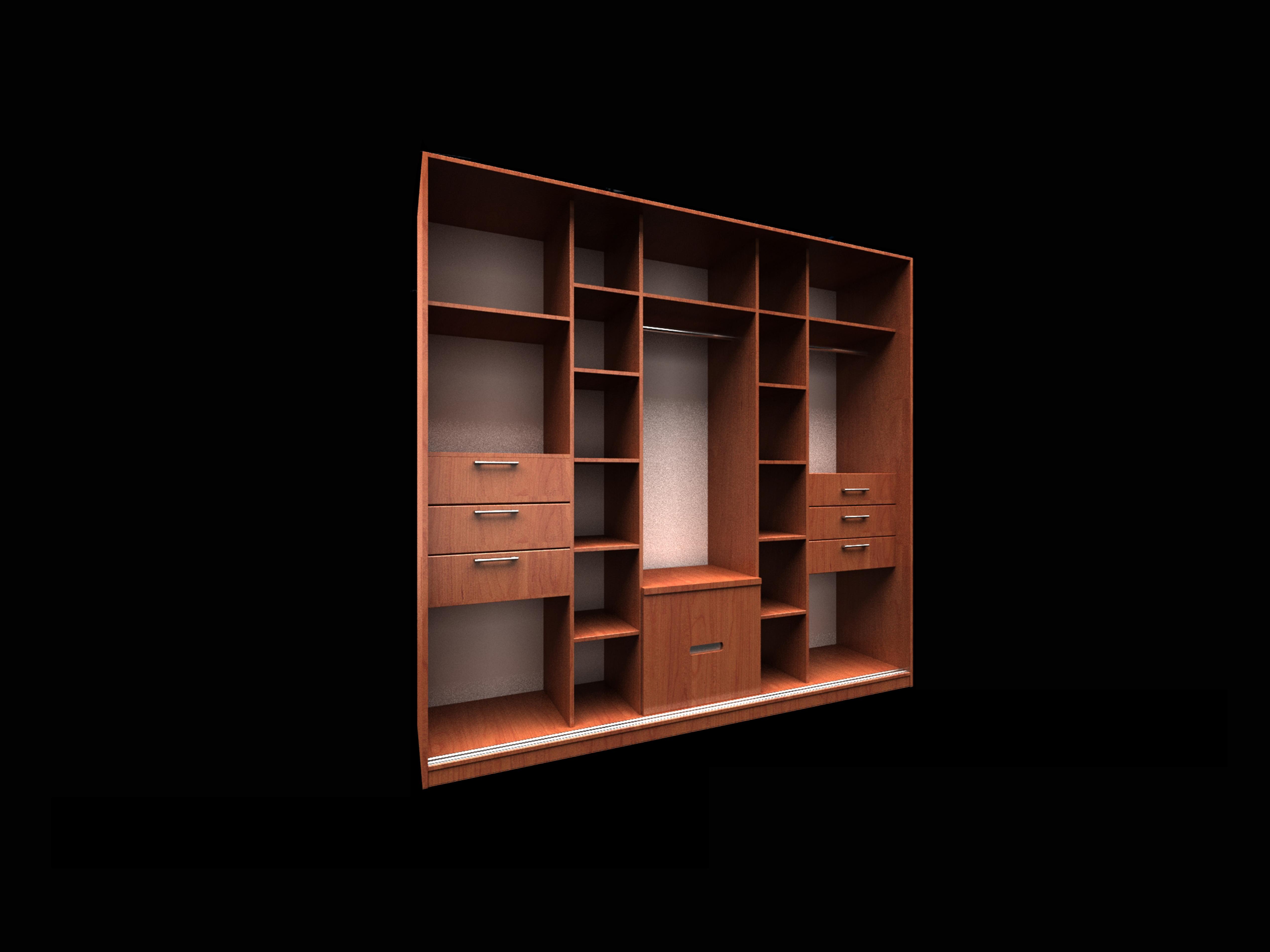 现代实木边柜置物柜