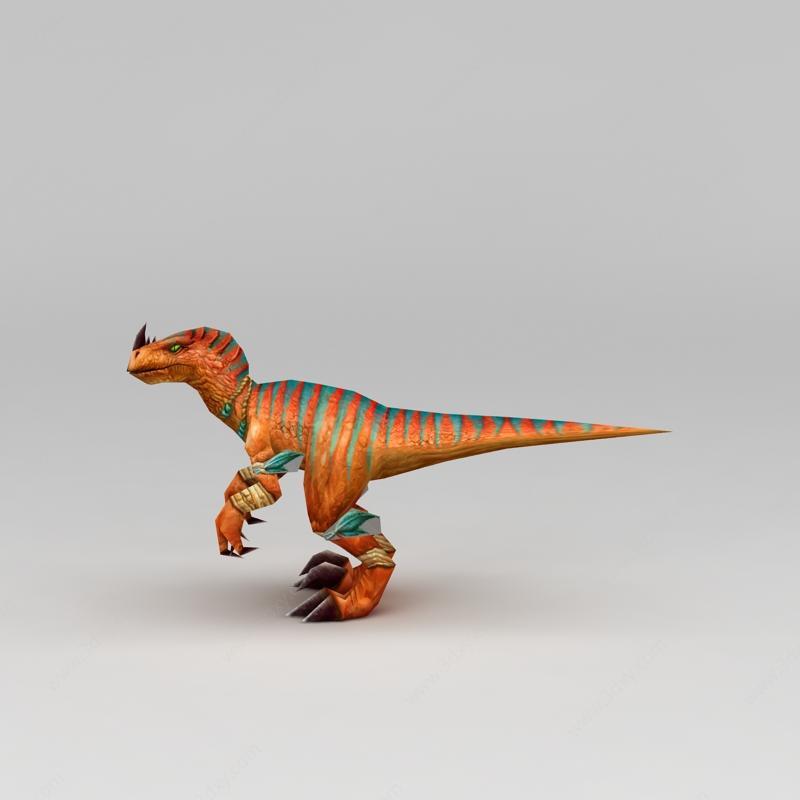 游戏角色恐龙模型