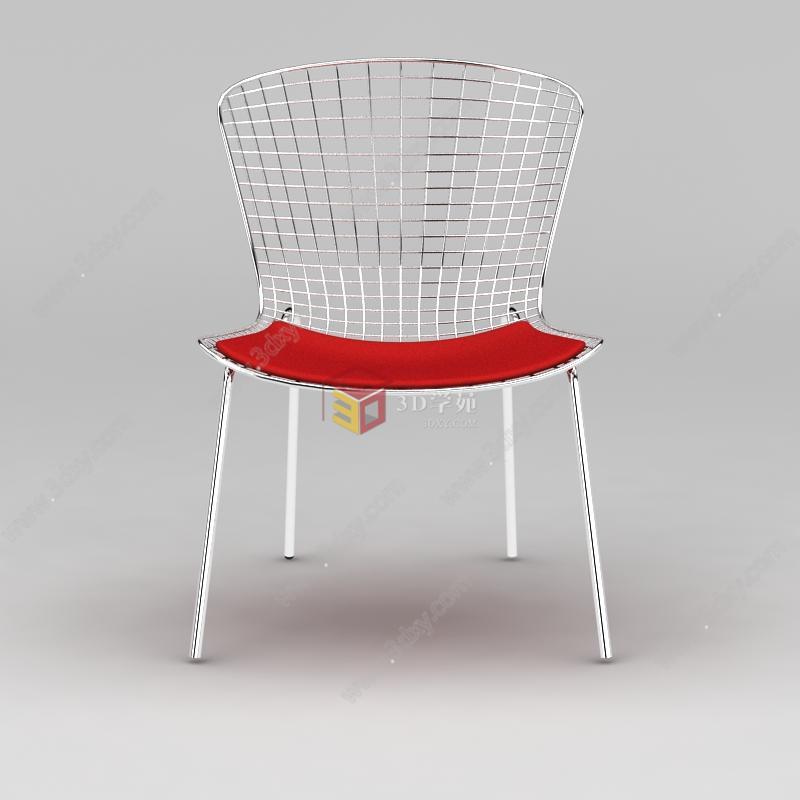 现代不锈钢椅子模型图片