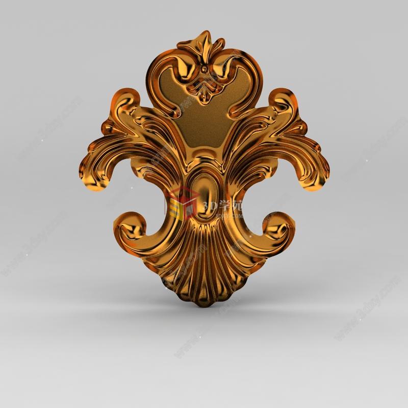 欧式雕花装饰品模型