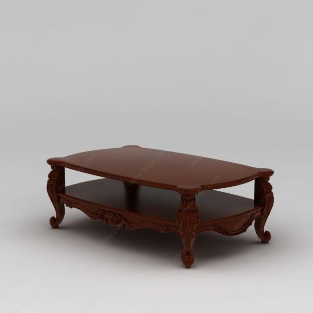 家具组合3d模型 桌3d模型 中式茶几3d模型