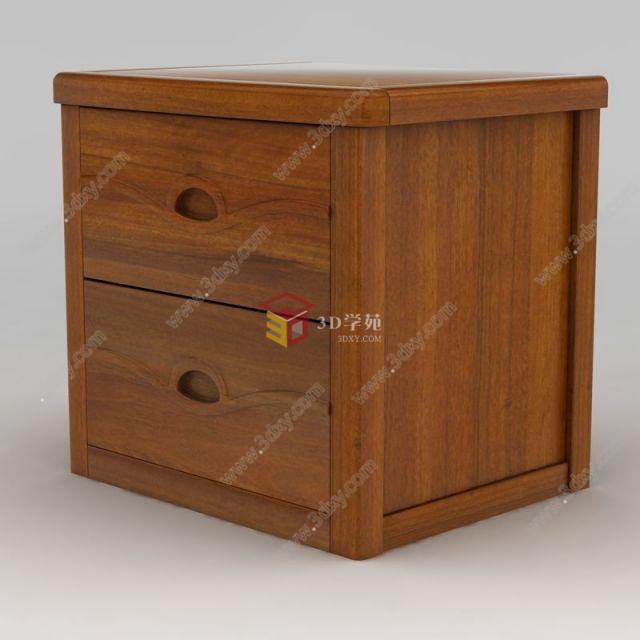 现代实木床头柜模型,现代实木床头柜模型下载