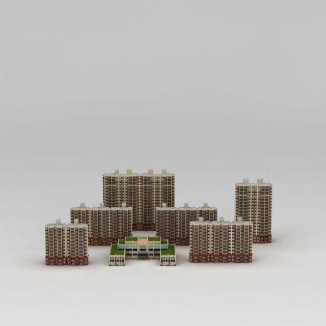 高档小区建筑楼